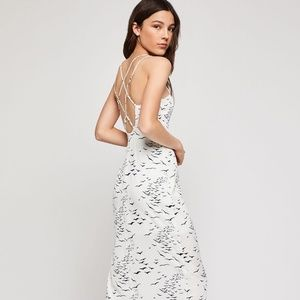 BCBGeneration Printed Strappy Back Woven Dress